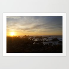 SUNSET - MONTEREY CALIFORNIA Art Print