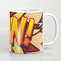 comic book Mugs featuring Comic Book POW! by Thisisnotme