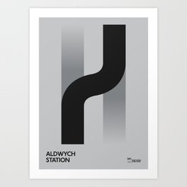 Off The Map | Aldwych Art Print