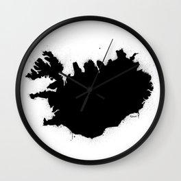 Iceland B&W Wall Clock