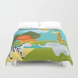 Animals, nursery decor , children gift, birthday gift Duvet Cover