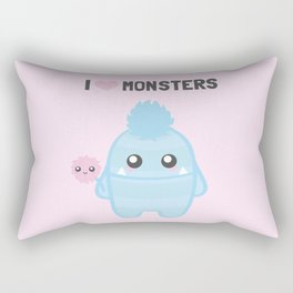 I love Monsters Rectangular Pillow