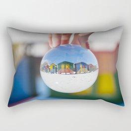 Changing Rooms at the Beach Rectangular Pillow