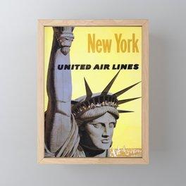 Vintage Travel Poster - New York Framed Mini Art Print