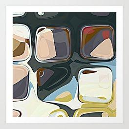 Mid Century Modern RETRO Abstract Pattern Art Geometric by Michel Keck Art Print
