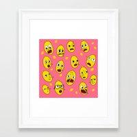 lemongrab Framed Art Prints featuring Lemongrab PINK  by Stiles