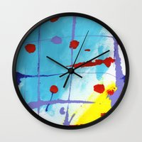 cage Wall Clocks featuring Cage by Ink and Paint Studio
