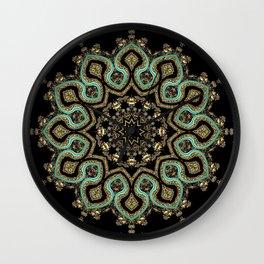 Art Deco No. 8 . The round ornament . Wall Clock