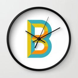 Letter B Wall Clock