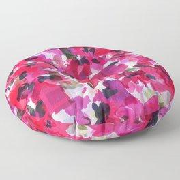 Red Poppy Plaid Floor Pillow