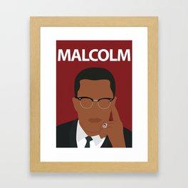 Malcolm X Poster - Inspirational Artwork - Minimalist Print - Civil Rights - Classroom Decor Framed Art Print