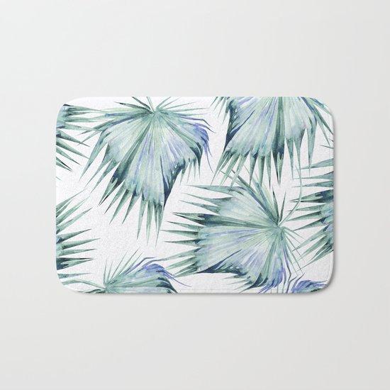 Floating Palm Leaves Bath Mat