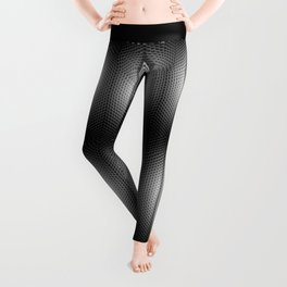 Carbon Stripe Honeycomb Pattern Leggings