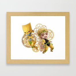 JJBA - ZA WARUDO!! chibi Framed Art Print