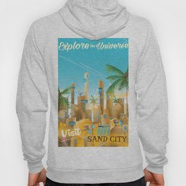 Explore the Universe vintage travel poster Hoody