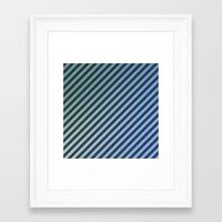 stripes Framed Art Prints featuring Stripes by David Zydd