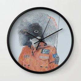 Antarctic Penguin Wall Clock