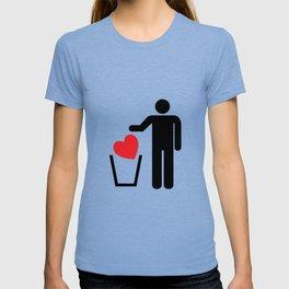 Heart Trash Bin T-shirt