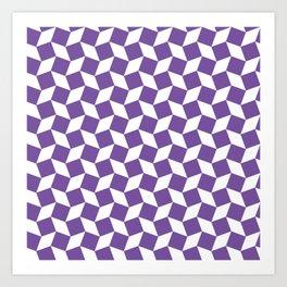 Purple Op Art Pattern Art Print