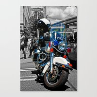 police Canvas Prints featuring Police by Pixel Villain
