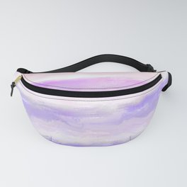 Abstract modern pink violet watercolor brushstrokes Fanny Pack