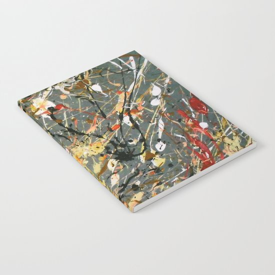Jackson Pollock Interpretation Acrylics On Canvas Splash Drip Action Painting Notebook