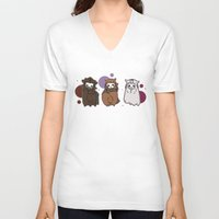 nori V-neck T-shirts featuring Dwarpaca family #3 by Lady Cibia