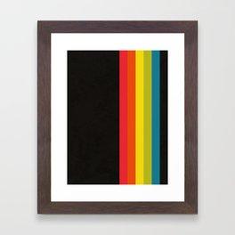 Retro Camera Color Palette Framed Art Print