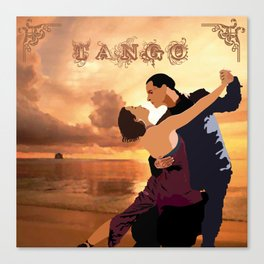 TANGO DANCE Canvas Print