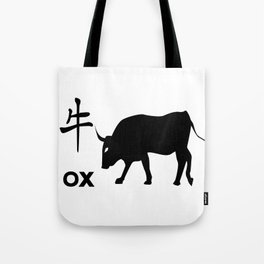 Chinese Year Of The Ox Tote Bag
