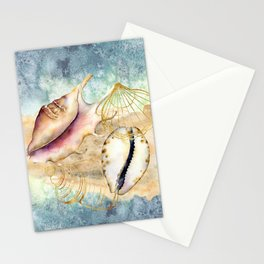 Watercolor Under Sea Collection: Shells Stationery Cards