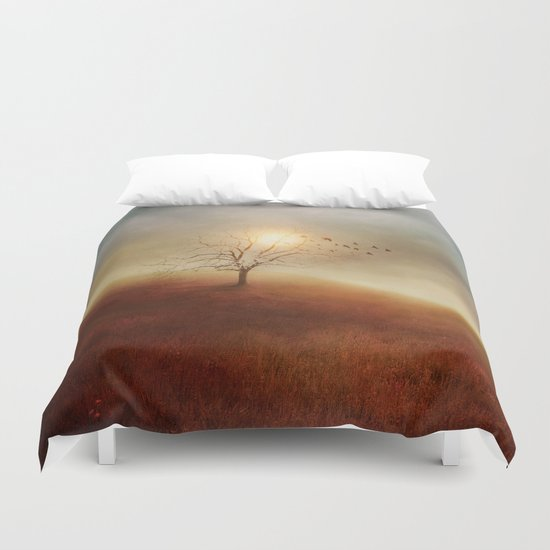 Lone Tree Love I Duvet Cover