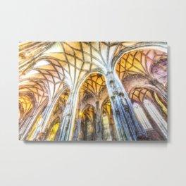 St Stephens Cathedral Vienna Art Metal Print