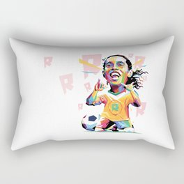 Ronaldinho Carricature WPAP Rectangular Pillow