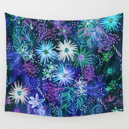 Eden Floral Blue Wall Tapestry