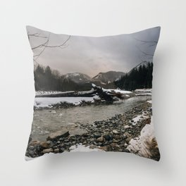 Snoqualmie River Throw Pillow