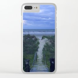 A Summer Sun's Exit Clear iPhone Case