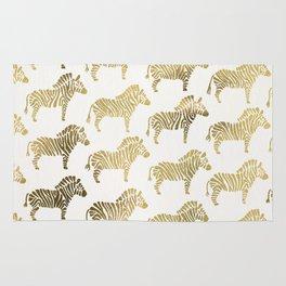 Golden Zebras Rug