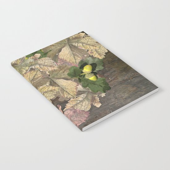 Acorns in Autumn Notebook