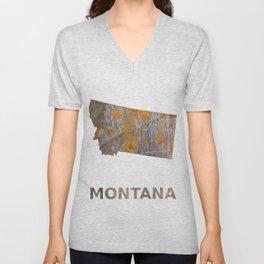 Montana map Unisex V-Neck