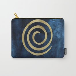 Infinity Navy Blue And Gold Abstract Modern Art Painting Carry-All Pouch
