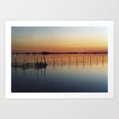 Sunset in Venice Lagoon #2 Art Print