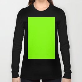 color chartreuse Long Sleeve T-shirt
