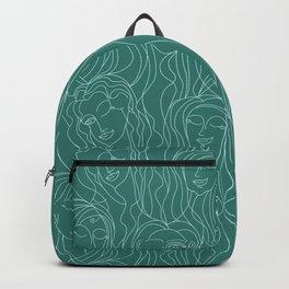Green Ladies Backpack
