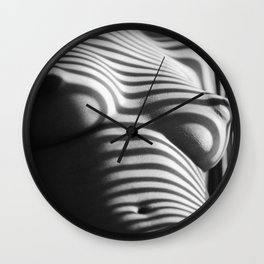 Striped (Nude Photo) Wall Clock