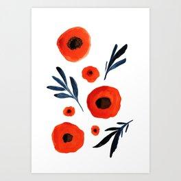 Red Poppies Specimen Art Print