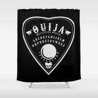ouija Shower Curtains featuring OUIJA PLANCHETTE by ANOMIC DESIGNS