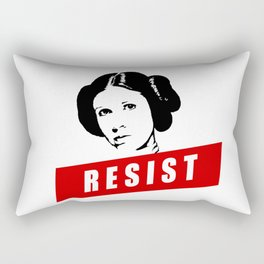 Princess Leia RESIST Star War black white red join the resistance Rectangular Pillow