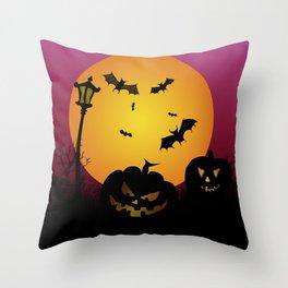 Spooky Halloween 6 Throw Pillow