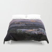 "greece Duvet Covers featuring Greece by ""CVogiatzi."